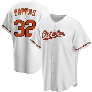Men's Baltimore Orioles Milt Pappas Replica White Home Jersey