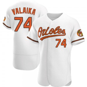 Men's Baltimore Orioles Pat Valaika Authentic White Home Jersey