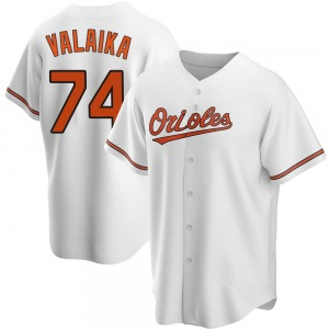 Men's Baltimore Orioles Pat Valaika Replica White Home Jersey