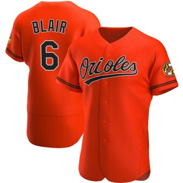 Men's Baltimore Orioles Paul Blair Authentic Orange Alternate Jersey
