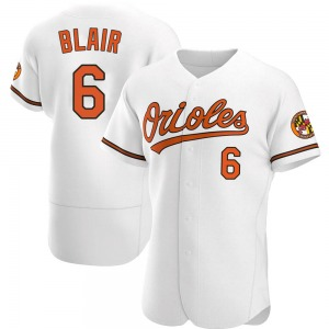 Men's Baltimore Orioles Paul Blair Authentic White Home Jersey