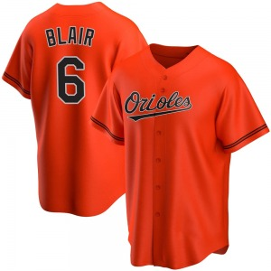 Men's Baltimore Orioles Paul Blair Replica Orange Alternate Jersey