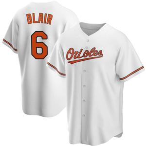 Men's Baltimore Orioles Paul Blair Replica White Home Jersey