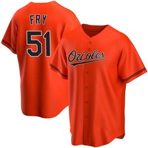 Men's Baltimore Orioles Paul Fry Replica Orange Alternate Jersey