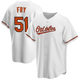 Men's Baltimore Orioles Paul Fry Replica White Home Jersey