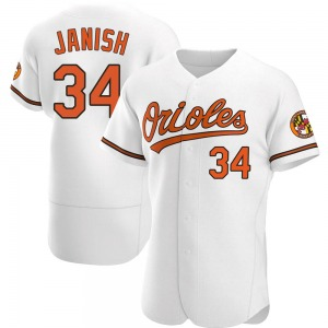 Men's Baltimore Orioles Paul Janish Authentic White Home Jersey