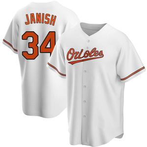 Men's Baltimore Orioles Paul Janish Replica White Home Jersey