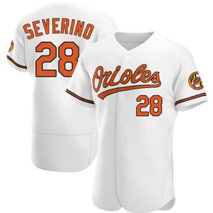 Men's Baltimore Orioles Pedro Severino Authentic White Home Jersey