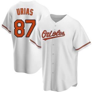 Men's Baltimore Orioles Ramon Urias Replica White Home Jersey