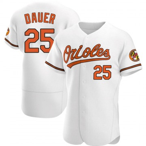Men's Baltimore Orioles Rich Dauer Authentic White Home Jersey