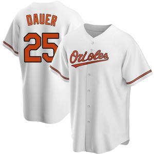 Men's Baltimore Orioles Rich Dauer Replica White Home Jersey