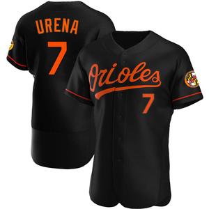 Men's Baltimore Orioles Richard Urena Authentic Black Alternate Jersey