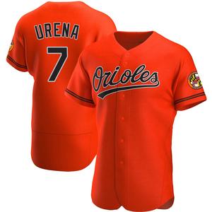 Men's Baltimore Orioles Richard Urena Authentic Orange Alternate Jersey