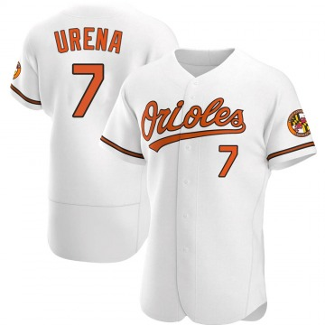 Men's Baltimore Orioles Richard Urena Authentic White Home Jersey