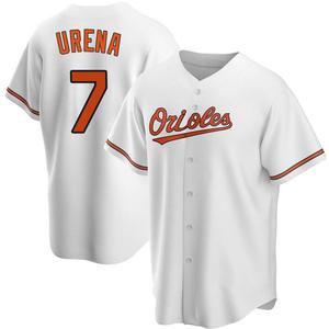 Men's Baltimore Orioles Richard Urena Replica White Home Jersey