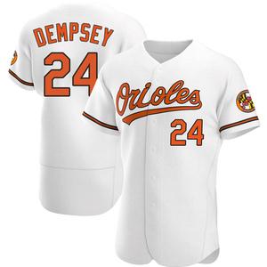 Men's Baltimore Orioles Rick Dempsey Authentic White Home Jersey
