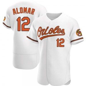 Men's Baltimore Orioles Roberto Alomar Authentic White Home Jersey