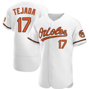 Men's Baltimore Orioles Ruben Tejada Authentic White Home Jersey