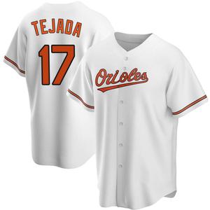 Men's Baltimore Orioles Ruben Tejada Replica White Home Jersey
