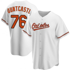 Men's Baltimore Orioles Ryan Mountcastle Replica White Home Jersey