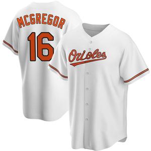 Men's Baltimore Orioles Scott Mcgregor Replica White Home Jersey