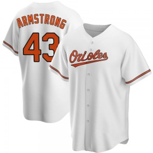 Men's Baltimore Orioles Shawn Armstrong Replica White Home Jersey