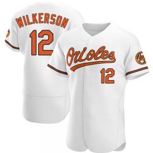 Men's Baltimore Orioles Steve Wilkerson Authentic White Home Jersey