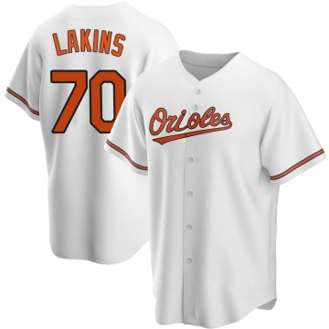 Men's Baltimore Orioles Travis Lakins Replica White Home Jersey