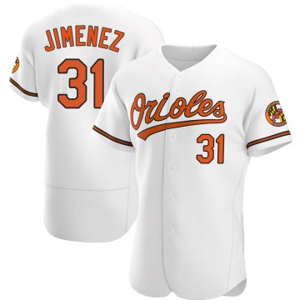 Men's Baltimore Orioles Ubaldo Jimenez Authentic White Home Jersey