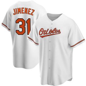 Men's Baltimore Orioles Ubaldo Jimenez Replica White Home Jersey