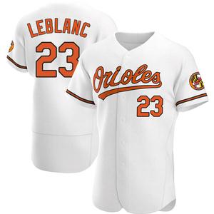 Men's Baltimore Orioles Wade LeBlanc Authentic White Home Jersey