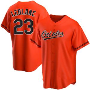 Men's Baltimore Orioles Wade LeBlanc Replica Orange Alternate Jersey
