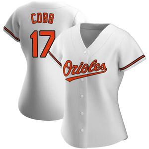 Women's Baltimore Orioles Alex Cobb Authentic White Home Jersey