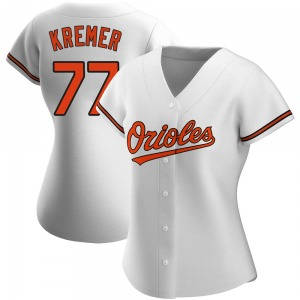 Women's Baltimore Orioles Dean Kremer Authentic White Home Jersey