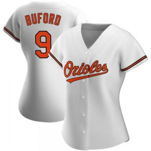 Women's Baltimore Orioles Don Buford Authentic White Home Jersey