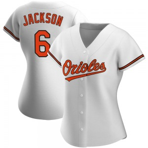 Women's Baltimore Orioles Drew Jackson Authentic White Home Jersey