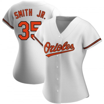 Women's Baltimore Orioles Dwight Smith Jr. Authentic White Home Jersey