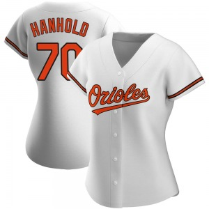 Women's Baltimore Orioles Eric Hanhold Authentic White Home Jersey
