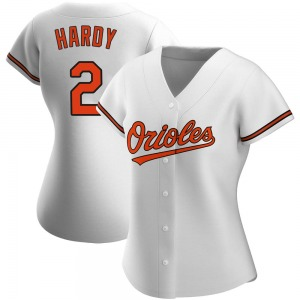 Women's Baltimore Orioles J.J. Hardy Authentic White Home Jersey