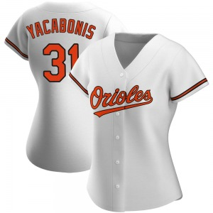 Women's Baltimore Orioles Jimmy Yacabonis Authentic White Home Jersey