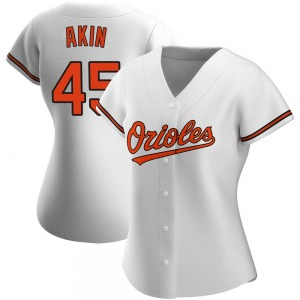 Women's Baltimore Orioles Keegan Akin Authentic White Home Jersey