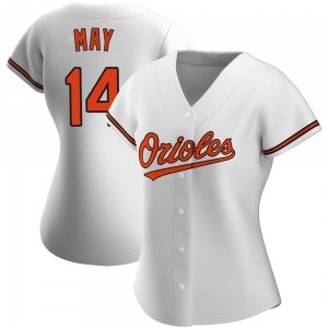 Women's Baltimore Orioles Lee May Authentic White Home Jersey