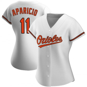 Women's Baltimore Orioles Luis Aparicio Authentic White Home Jersey