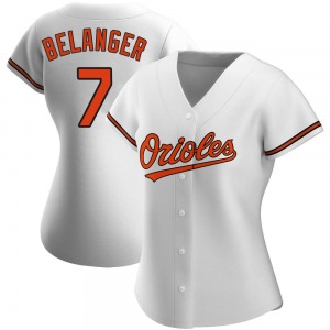 Women's Baltimore Orioles Mark Belanger Replica White Home Jersey
