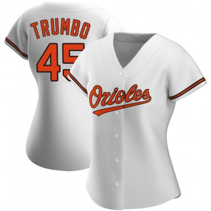 Women's Baltimore Orioles Mark Trumbo Authentic White Home Jersey