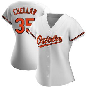 Women's Baltimore Orioles Mike Cuellar Replica White Home Jersey