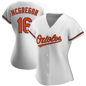Women's Baltimore Orioles Scott Mcgregor Replica White Home Jersey