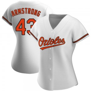 Women's Baltimore Orioles Shawn Armstrong Authentic White Home Jersey