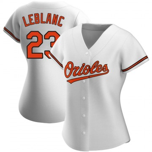 Women's Baltimore Orioles Wade LeBlanc Replica White Home Jersey