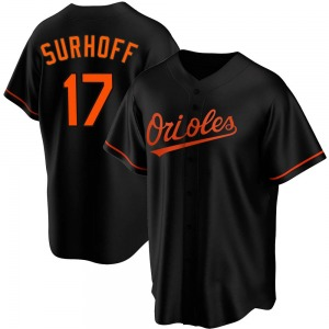 Youth Baltimore Orioles Bj Surhoff Replica Black Alternate Jersey